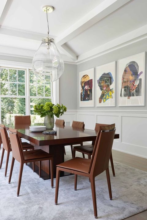 Dining room, Room, Furniture, Property, Interior design, Ceiling, Table, Floor, Home, Building,