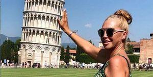 Belén Esteban de vacaciones en Pisa, Italia