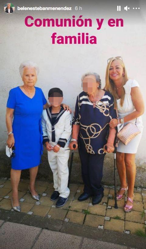 belén esteban de comunión familiar con su madre, belen esteban, madre de belen esteban,salvame, colaboradora de sálvame