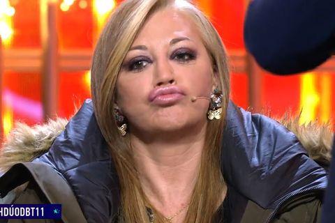 Belén Esteban se planta y le envía un tirito a Jordi González por el frío en el plató del debate de 'GH Dúo'