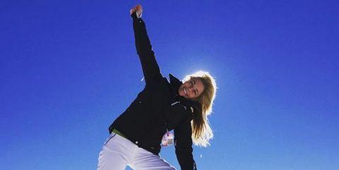 Snow, Sky, Jumping, Mountain, Fun, Happy, Flip (acrobatic), Recreation, Winter, Photography,