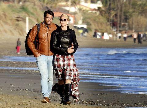 Belén Rueda con su novio, Francis Malfatto