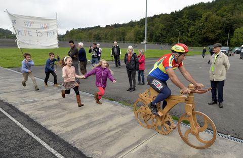 Houten fiets Eddy Planckaert