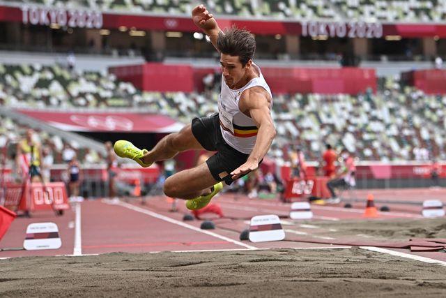 la caida del decatleta belga van der plaetsen en los juegos olímpicos de tokio 2020