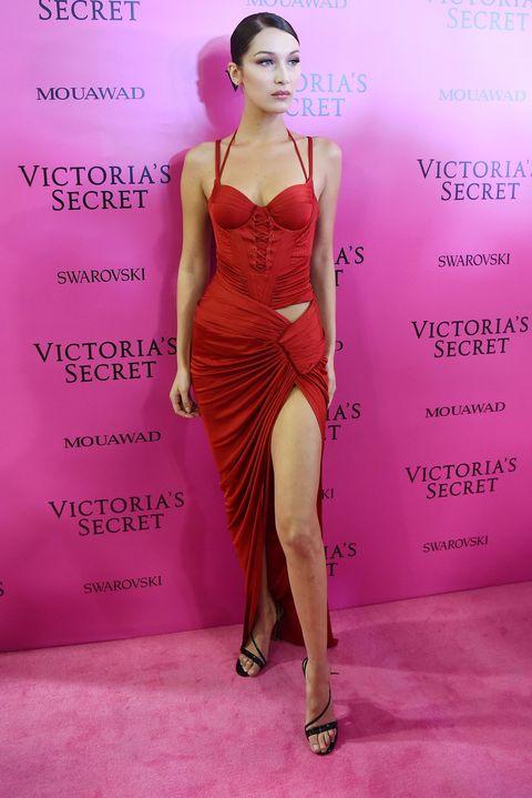 Fashion model, Clothing, Dress, Cocktail dress, Fashion, Pink, Magenta, Shoulder, Model, Fashion design,