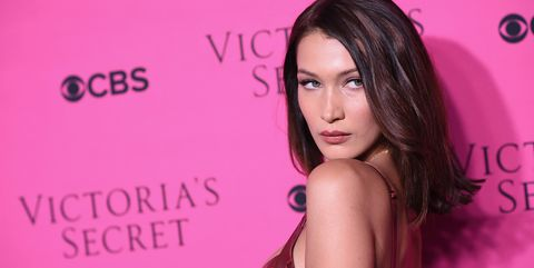 Bella Hadid at the Victoria's Secret viewing party
