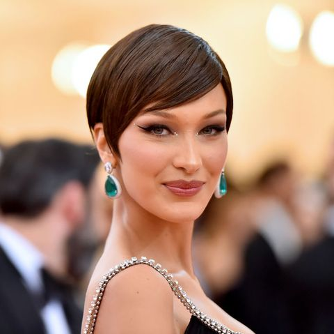 Bella Hadid Wears Black Cutout Dress On Met Gala 2019 Red