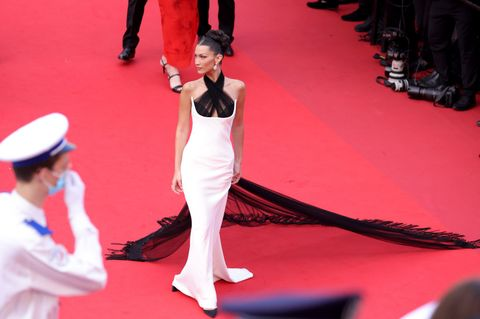 bella hadid at the cannes film festival in 2021