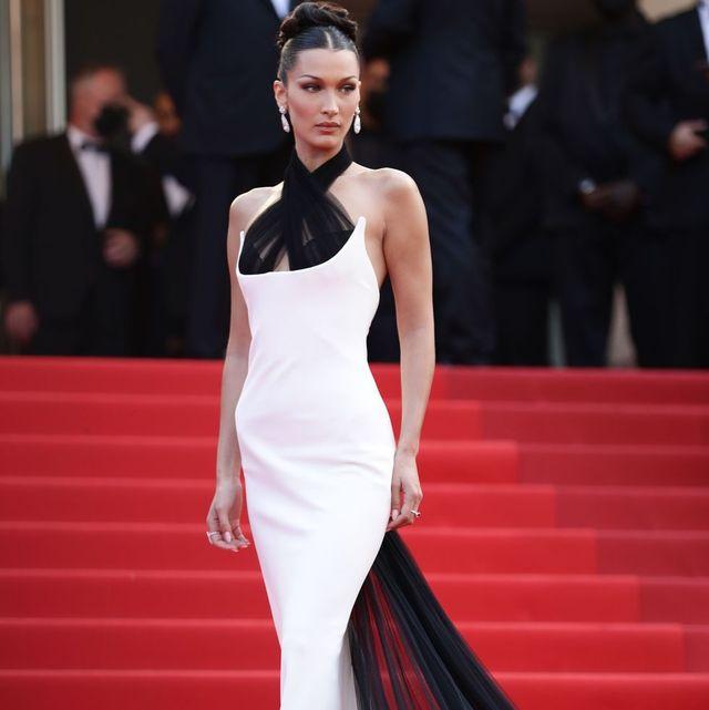 レッドカーペットで「ジャンポール・ゴルチエ」のドレスを着こなすベラ・ハディッド
