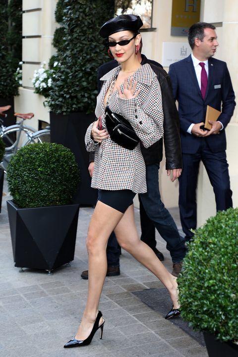 Clothing, Street fashion, Fashion model, Eyewear, Fashion, Sunglasses, Little black dress, Leg, Snapshot, Footwear,