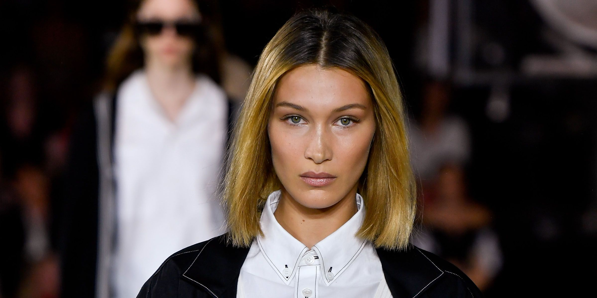 Bella Hadid debuted a blunt bob at Burberry