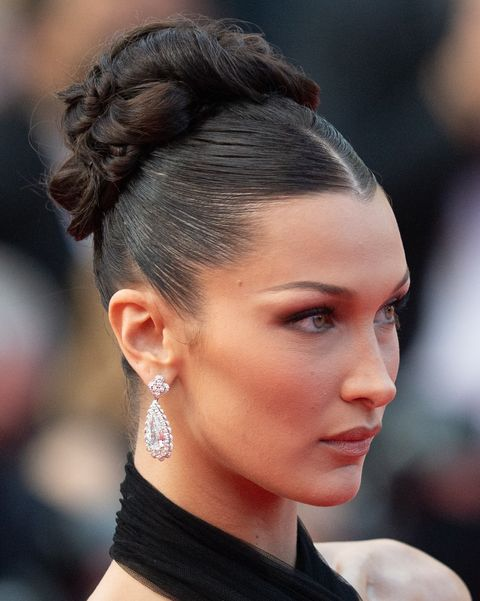 cannes, france   july 06 bella hadid attends the annette screening and opening ceremony during the 74th annual cannes film festival on july 06, 2021 in cannes, france photo by samir husseinwireimage
