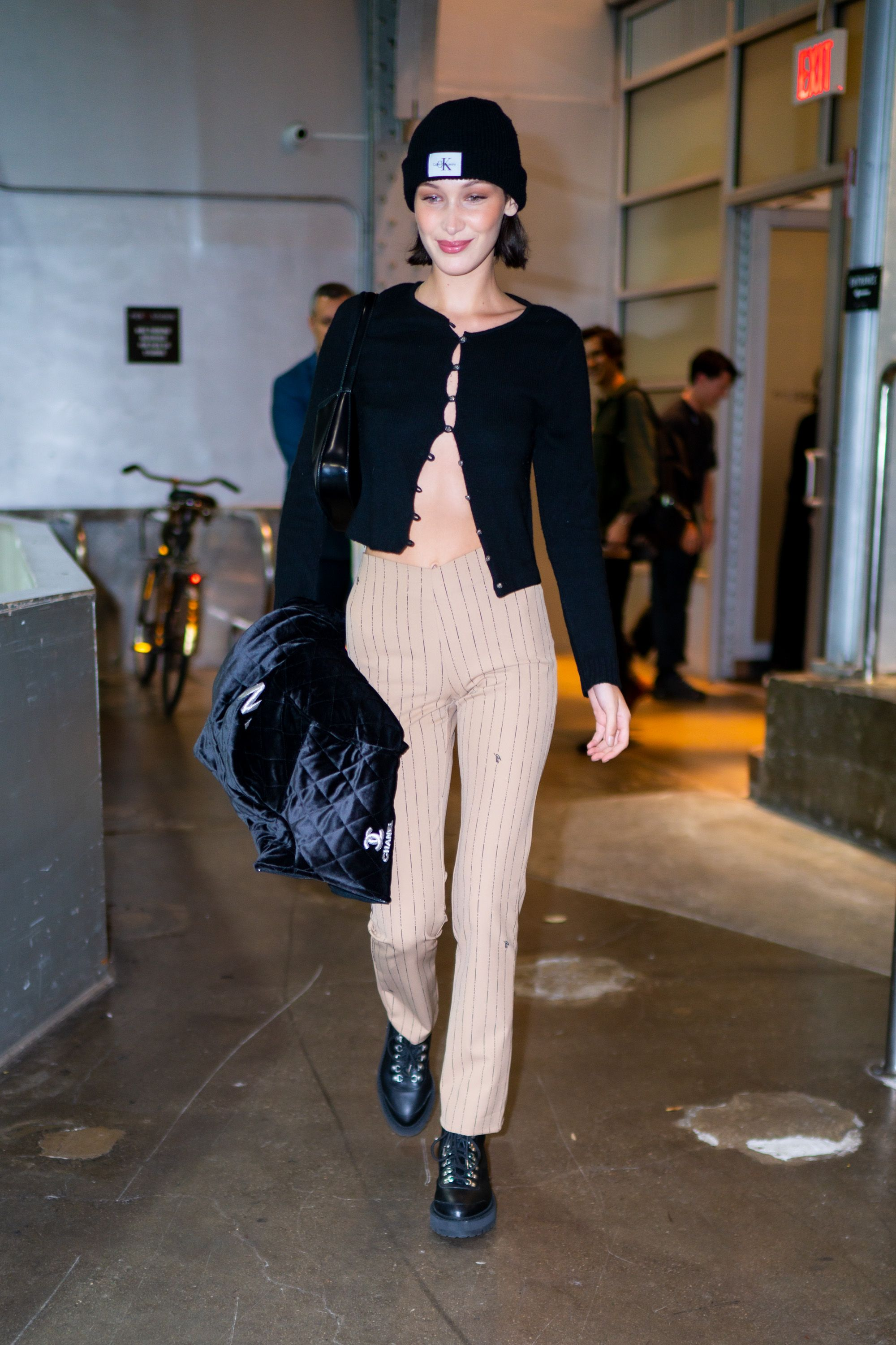 Bella Hadid Wears Fall's Biggest Cardigan Trend