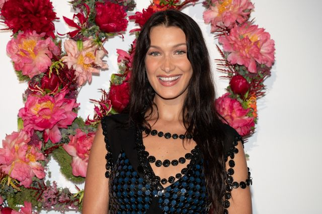 model bella hadid attending the louisvuitton foundation event in paris, france on july 5, 2021