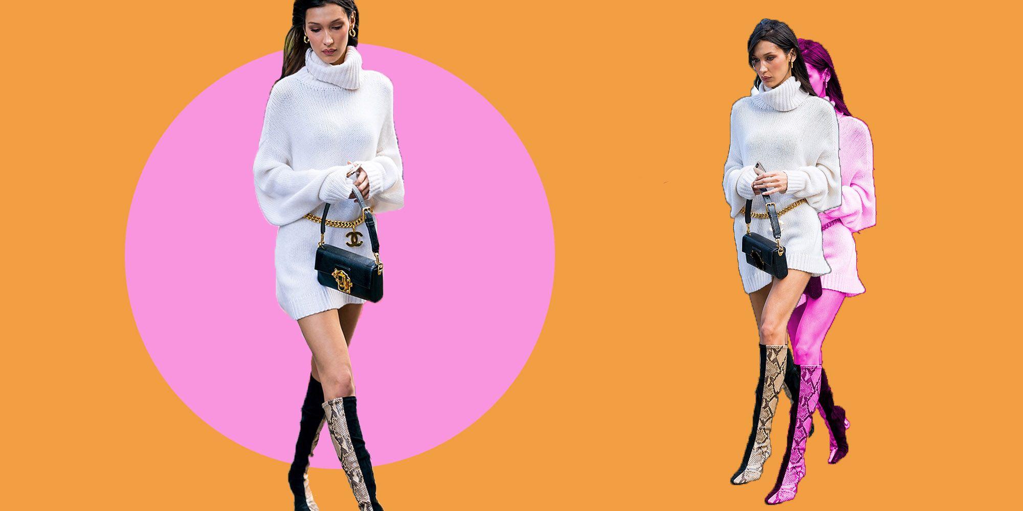 Maglione lungo come vestito, Bella Hadid ha mostrato come indossarlo a regola darte per lautunno 2019