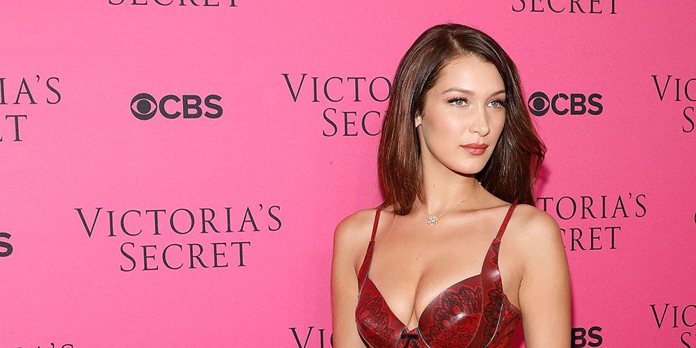 Bella Hadid snakeskin dress