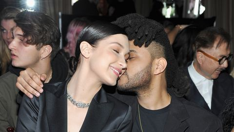 Bella Hadid Kissing The Weeknd in Cannes
