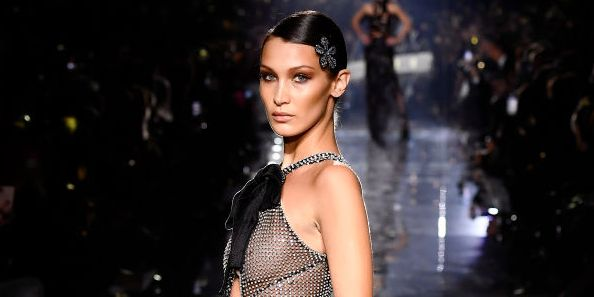 Bella Hadid Just Shut Down the Runway in a Completely Sheer Gown for Tom Ford