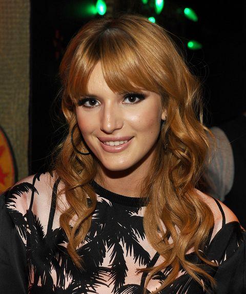 Side fringe celebrity hairstyles