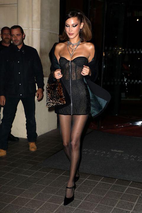 Clothing, Leg, Fashion, Dress, Thigh, Fashion model, Little black dress, Tights, Cocktail dress, Human body,