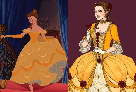 princesas disney trajes época real