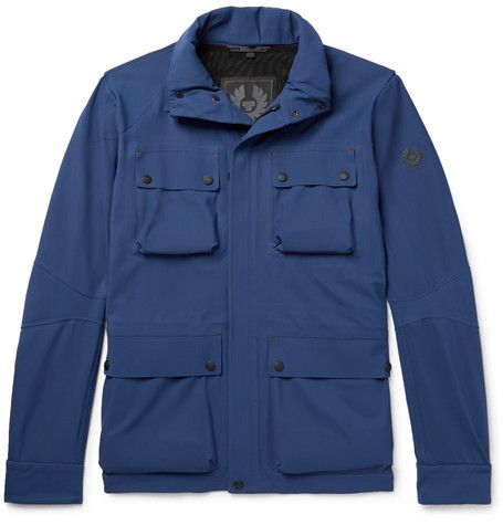 Clothing, Outerwear, Jacket, Blue, Sleeve, Pocket, Collar, Textile, Electric blue, Coat,