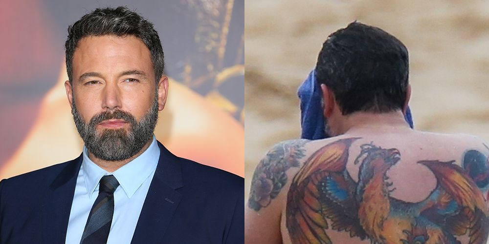 f032b43878fd3 Ben Affleck finally speaks out about the massive back tattoo he said was  fake is still very much on his back