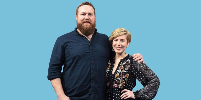 """new york, new york   january 08 exclusive coverage hgtv """"home town"""" stars ben napier and erin napier visit people now on january 08, 2020 in new york city photo by gary gershoffgetty images"""