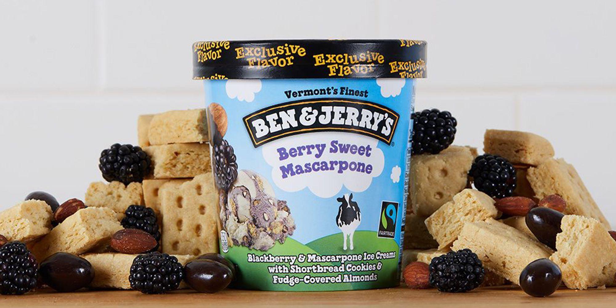 Ben & Jerry's New Pint Combines Blackberry And Mascarpone Ice Creams
