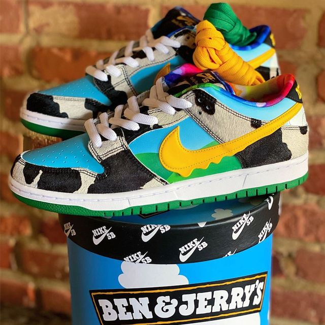 ben  jerry's nike sb chunky dunky sneakers