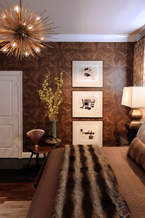 Room, Interior design, Furniture, Brown, Bedroom, Wall, Ceiling, Lighting, Floor, Home,