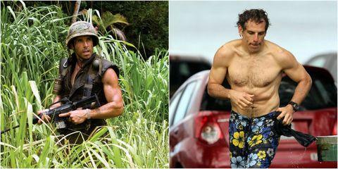 Ben Stiller Tropic Thunder and shirtless