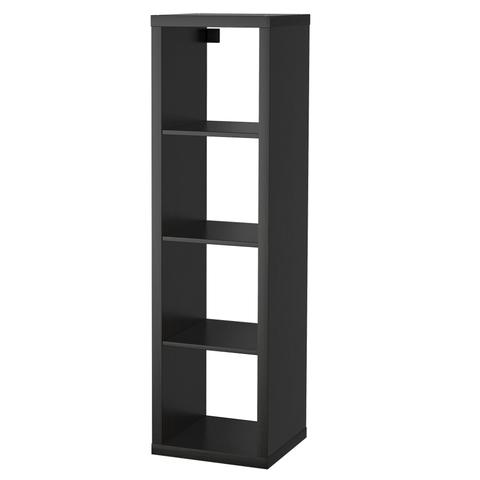 black ikea shelves