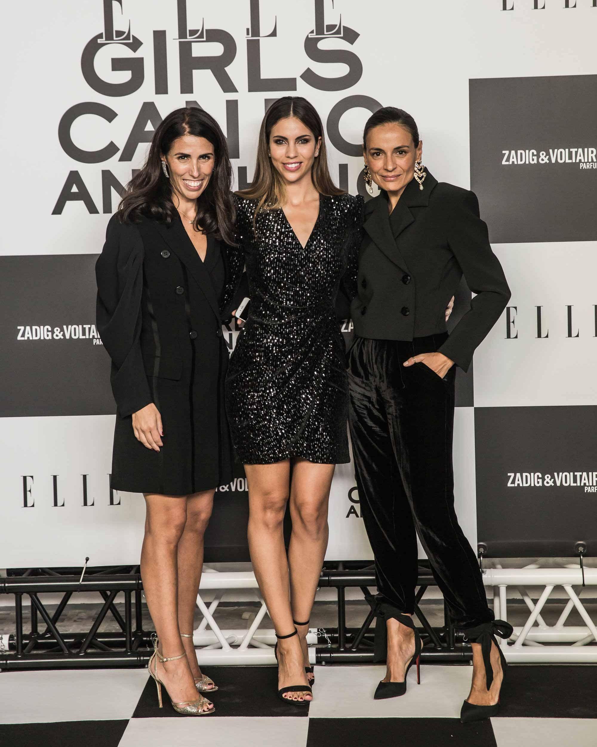 Benedetta Poletti, Melissa Jiménez e Inma Jiménez en la Fiesta ELLE y Zadig & Voltaire 'ELLE Girls can do anything'.