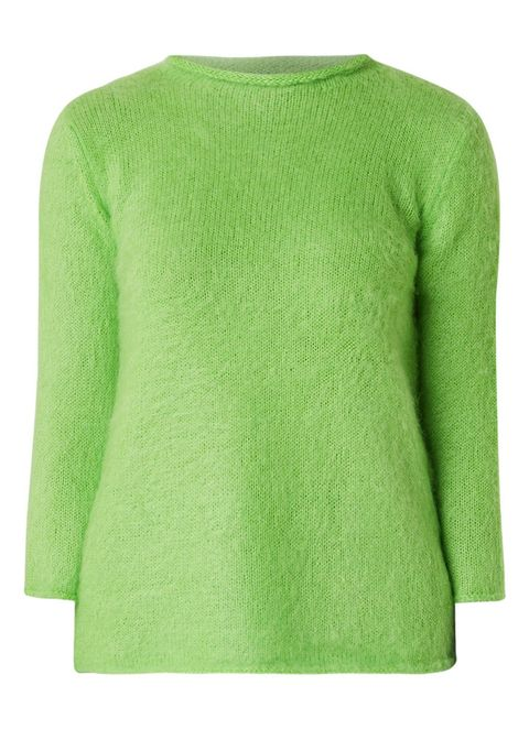 Green, Clothing, Sleeve, Sweater, Outerwear, Neck, Wool, Top, Long-sleeved t-shirt, Jersey,