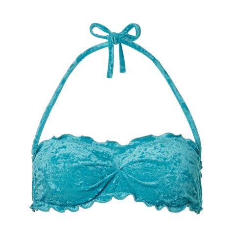Swimsuit top, Clothing, Turquoise, Aqua, Swimwear, Teal, Lingerie, Undergarment, Lingerie top, Brassiere,