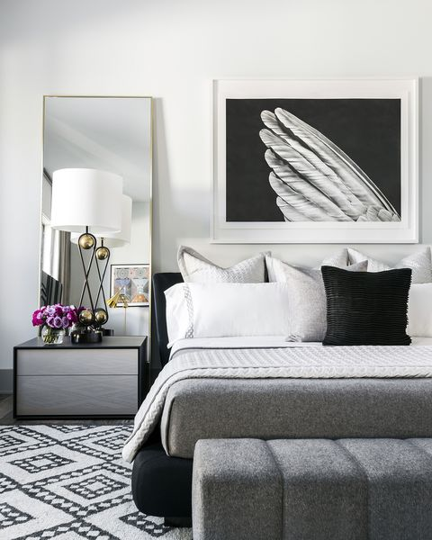 Decorating With Black White: Photos And Ideas For Bedrooms