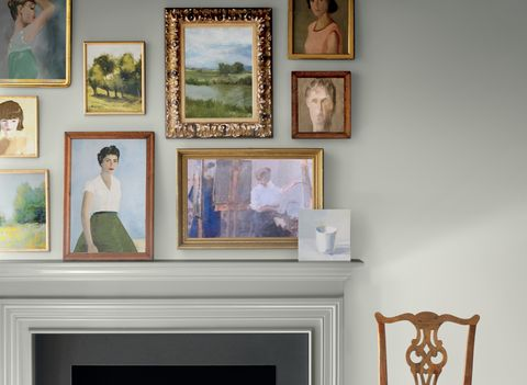 Room, Wall, Shelf, Picture frame, Furniture, Home, Interior design, House, Collection, Living room,