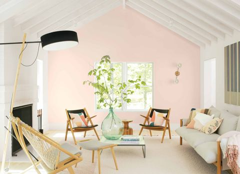 benjamin moore first light pink rooms veranda
