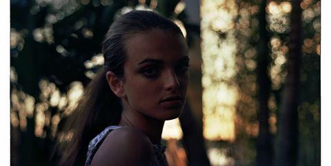 Lip, Hairstyle, Eyebrow, Photograph, Summer, Sunlight, Eyelash, Beauty, Black hair, Youth,