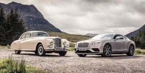 2019 Bentley Continental GT and old Continental
