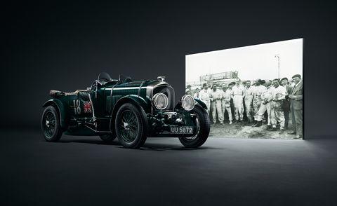 Land vehicle, Vehicle, Vintage car, Car, Automotive design, Classic, Antique car, Classic car, Aston martin ulster, Bentley,