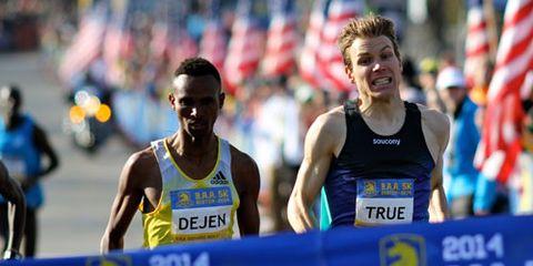 Dejen Gebremeskel, Ben True finish 2014 B.A.A. 5K