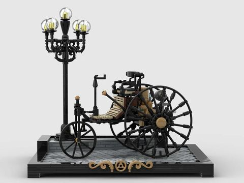benz patent motorwagen de lego