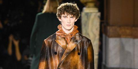 Fashion model, Fashion, Fashion show, Runway, Clothing, Fur, Fur clothing, Street fashion, Outerwear, Coat,