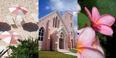 Pink places in Bermuda