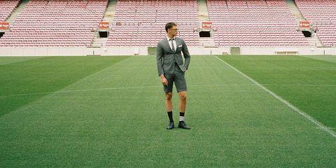 Sport venue, Grass, Green, Player, Soccer, Football, Stadium, Football player, Team sport, Artificial turf,