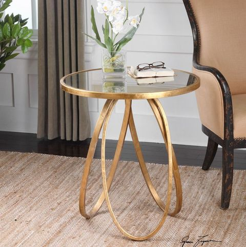 bernard gold accent table from lulu and georgia