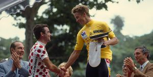 Cycling - Bernard Hinault and Greg Lemond