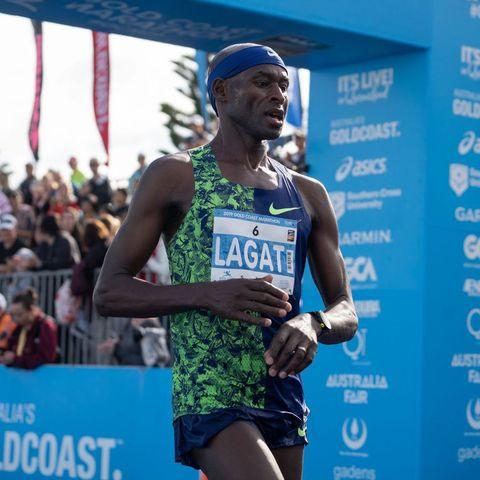 Barnard Lagat en el maratón de Gold Coast